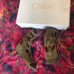 Chloe lace up sandals